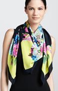 Triangle draped scarf