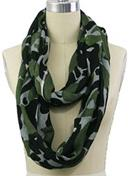 Draped & looped infinity style scarf