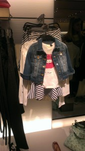 denim & stripes with a motiff t-shirt, always a cute combo for kids or adults