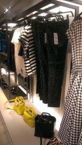 plenty of pattern, black & white & colourful handbags
