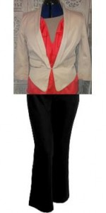 You can team the black & colour with a cream jacket also.